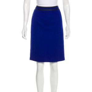 MaxMara Cobalt and Black Pencil Skirt
